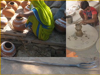 Making of pots in Thikarda